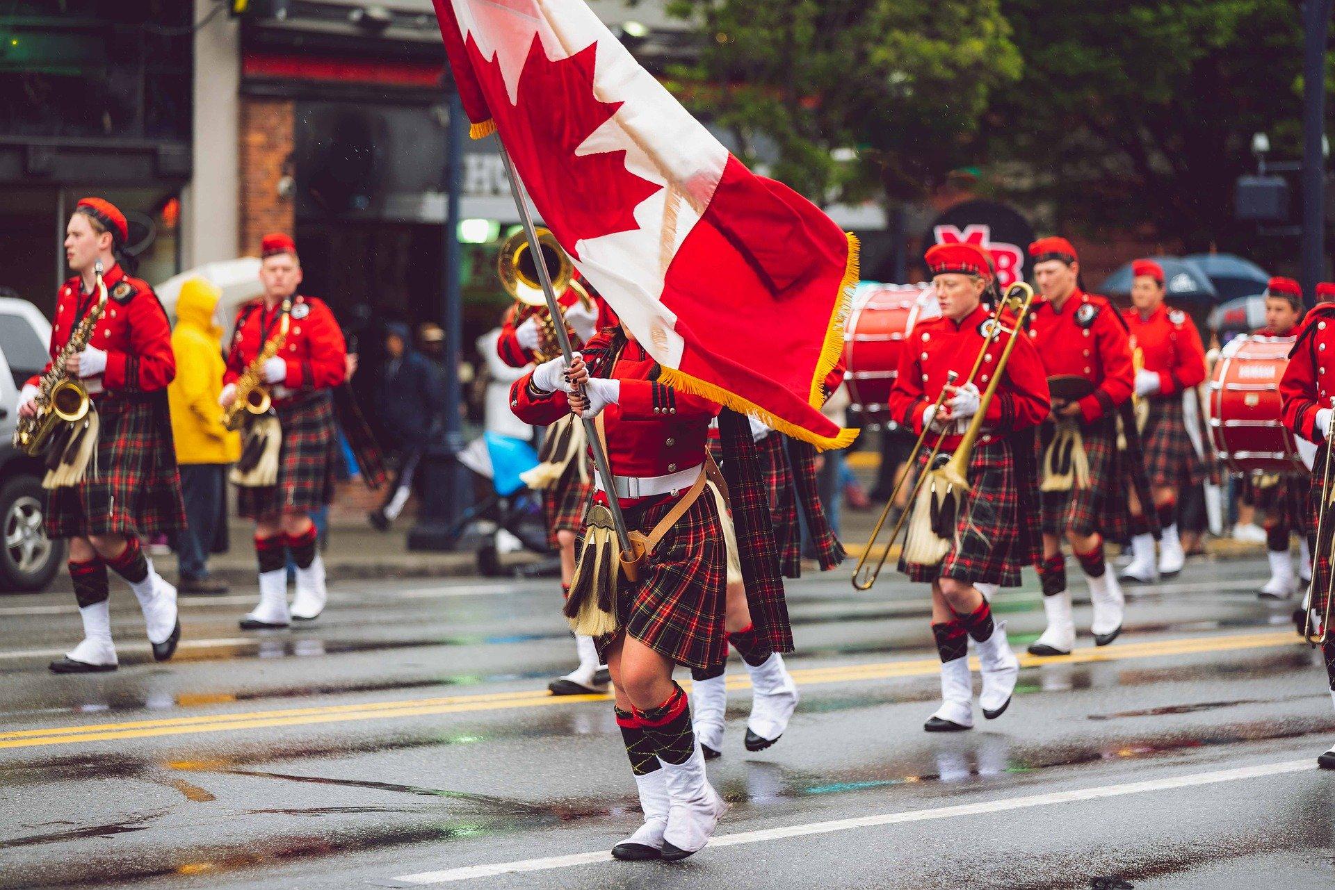 défilé canadien